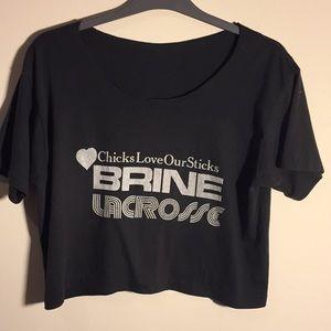 Vintage Brine Lacrosse Crop T-shirt